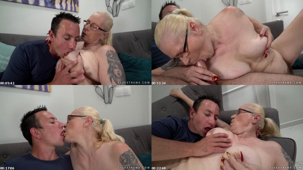 download LustyGrandmas - Violett Granny Creampie